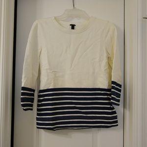 Navy stripe sweat shirt